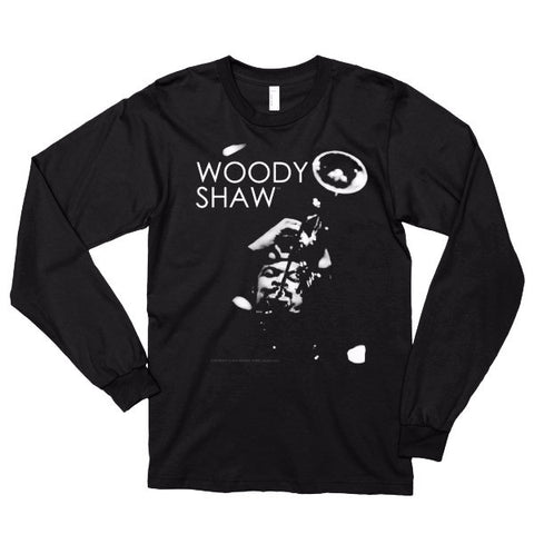 Woody Shaw 'Iconic Trumpeter' Long Sleeve T-Shirt (Under-head Shot)