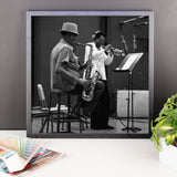 "Woody Shaw & Dexter Gordon Framed Session Photo - ""Gotham City"" (Columbia Records 1981) (C)"