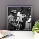 "Woody Shaw & Dexter Gordon Framed Session Photo - ""Gotham City"" (Columbia Records 1981) (A)"