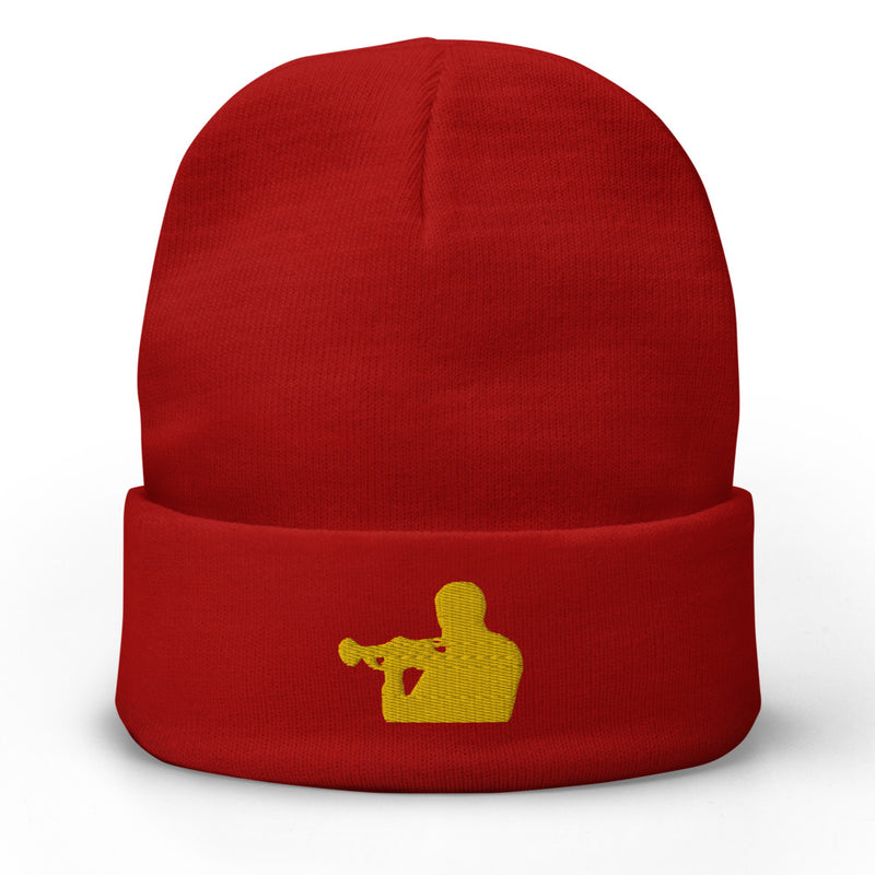 Woody Shaw Embroidered Beanie (Yellow Icon)