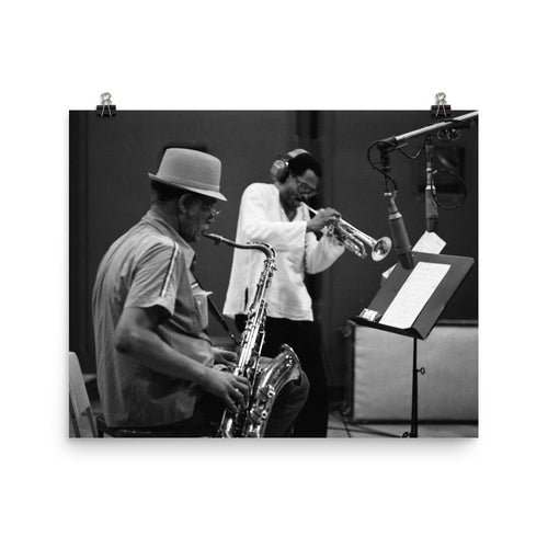 "Woody Shaw & Dexter Gordon Session Photo - ""Gotham City"" (Columbia Records) (A)"
