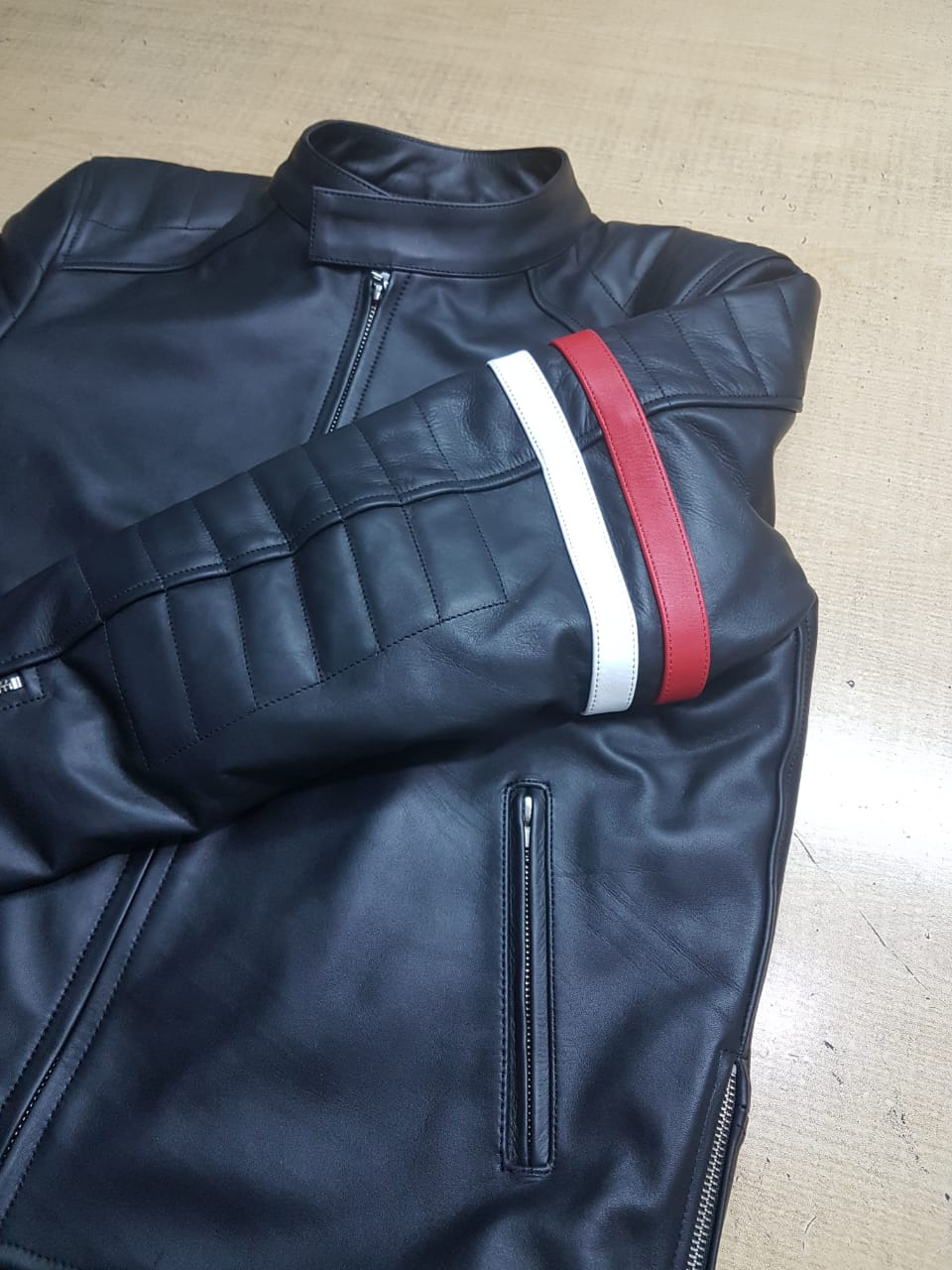 Biker Jacket Striped