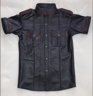 Black with Red trim Bluf  Shirt