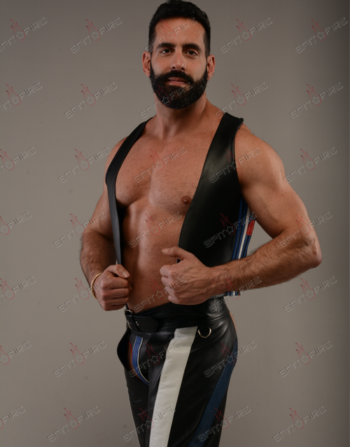 Leather  Flag Suit