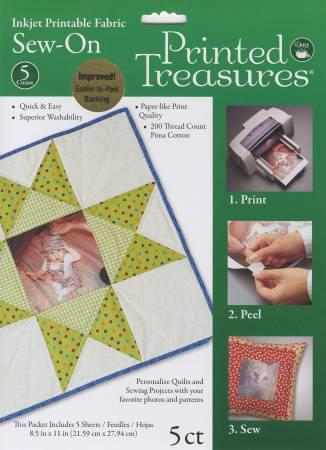 Printed Treasures Printer Fabric Sheets White (PT-100)
