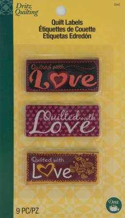 Sew In Embroidered Quilt Labels - With Love