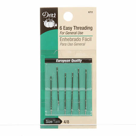 Prym Dritz Self / Easy Threading Hand Needle Sizes 4/8 (6ct) (672)