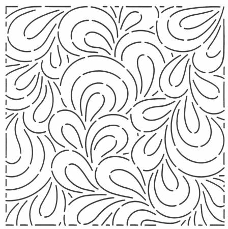 Paisley Block 10 in Quilting Stencil
