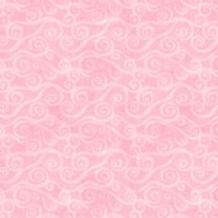 "108"" FLANNEL Wideback - Pink Swirly Scroll Essentials (5752-300) -Sold by 1/4 m"