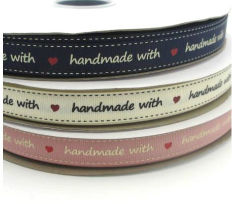 Handmade with Love Ribbon (16mm)