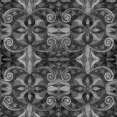 "Charcoal Baroque 108"" Cotton (9777-99) - Sold in UNITS of ¼ metre"