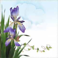 Iris Quilt Label -  2 per pack