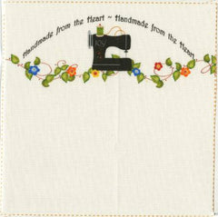 Joy Sewing Machine Quilt Label  - 2 per pack