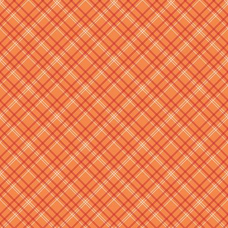 Backings Plaid Orange 107/108in Wide COTTON