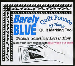 01 Stencil Chalk Transfer Quilt Pounce Pad Barely Blue