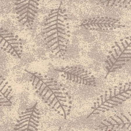 "Ivory Fern 110"" Flannel (RI9026-1) - Sold in UNITS of ¼ metre"