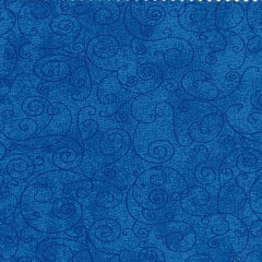"Medium Blue Willow Swirl 110"" Flannel (RI9016-8M) - Sold in UNITS of ¼ metre"