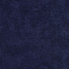 "Navy Willow Swirl 110"" Flannel (RI9016-29) - Sold in UNITS of ¼ metre"