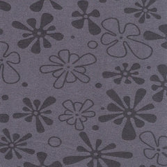 "Grey Flower 110"" Flannel (RI9032-04) - Sold in UNITS of ¼ metre"