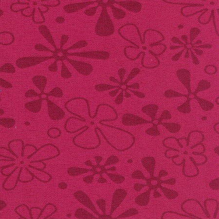 "Magenta Flower 110"" Flannel (RI9032-05) - Sold in UNITS of ¼ metre"