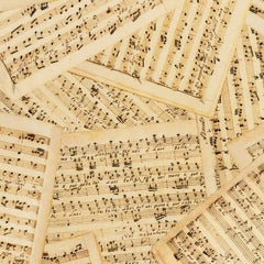 "Antique Music Sheets Digital 108"" Cotton (SRKXD19902199 ) – Sold in UNITS of ¼ metre"