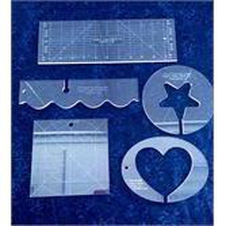Template Starter Kit by Linda V. Taylor-Longarm ruler-Maple Leaf Quilting Company Ltd.