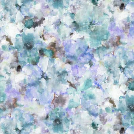 "Blue Watercolours 108"" Cotton (WBX9414-BLUE) – Sold in UNITS of ¼ metre"