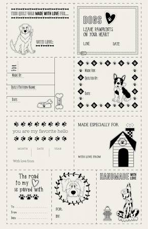 Dog Quilt Labels
