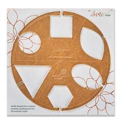 Gina Perkes Designs June Large Quilting Ruler-Longarm ruler-Maple Leaf Quilting Company Ltd.