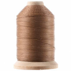 Cotton Hand Quilting Thread 3-ply T-40 1000yds Light Brown