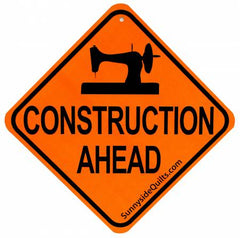 """Construction Ahead""  5-1/2in x 5-1/2in Sign"