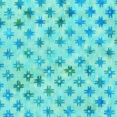 "Aqua Quilt Backs Modern 108"" Batik (608Q-1) - Sold in UNITS of 1/4 Metre"