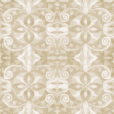 "Ivory Baroque 108"" Cotton (9777-41) - Sold in UNITS of ¼ metre"