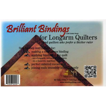 "Brilliant Bindings Tool 1/4"" For Longarmers-Longarm ruler-Maple Leaf Quilting Company Ltd."