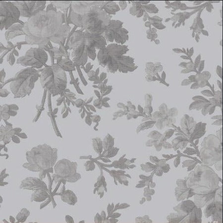 "Grey Floral 108"" Cotton (42462-2) - Sold in UNITS of ¼ metre"