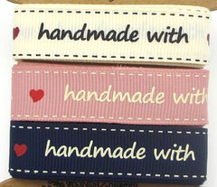 Handmade with Love (16mm) Ribbon (3 PKG)