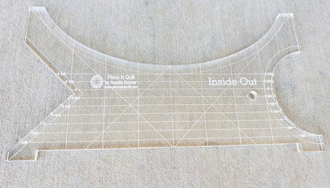 Inside Out Machine Quilting Ruler by Natalia Bonner-Longarm ruler-Maple Leaf Quilting Company Ltd.