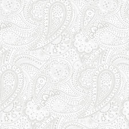 "108"" Pigment White Large Paisley Wideback (3655S-01W)"