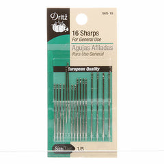 Prym Dritz Sharps Needles Assorted Sizes 1/5 (16ct) (56S-1-5)
