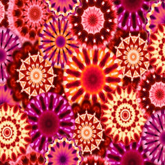 "Red/Pink Radiance Kaleidoscope 108"" Cotton (9885-88) - Sold in UNITS of ¼ metre"