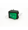 Image of Switch, PNL, Rocker Dpst, 15A, Green Mod G