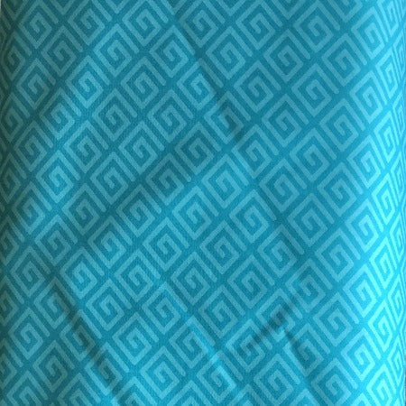 "108"" Teal Square Spiral 100% Cotton (39511-2)"