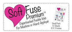 Soft Fuse Paper Backed Fusible (Package of 10 Sheets 8x9 inches each)