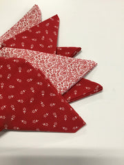 Fat Quarter Bundles of 6 - Red & White Tones