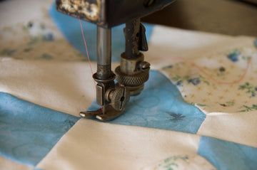 Quilt being sewn with Sewing machine   Flannel Backing for Quilt Canada
