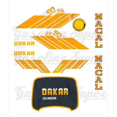 Kit de autocolantes para Macal Dakar Junior 50RV