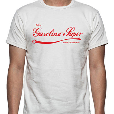 T-Shirt Enjoy Gasolina-Super branco