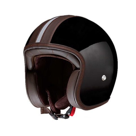 Capacete CMS Vintage Brown Black