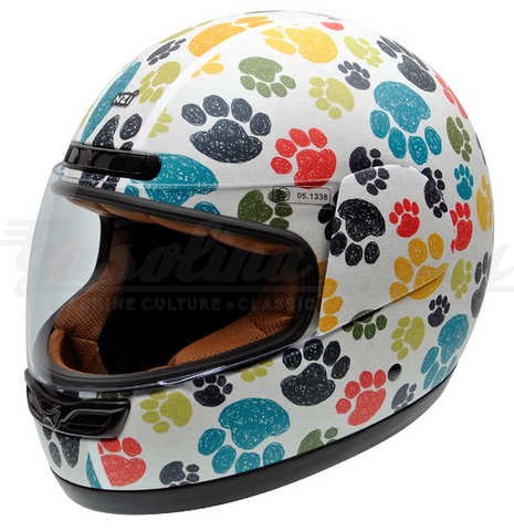 Capacete NZI integral ACTIVY JUNIOR PAWPRINTS