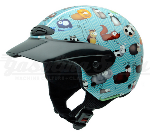 Capacete NZI aberto SINGLE II JUNIOR ANIMALS